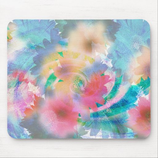BLUE FLOWER IMAGE MOUSE PADS