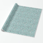 Blue Flower Lace Pattern Wrapping Paper