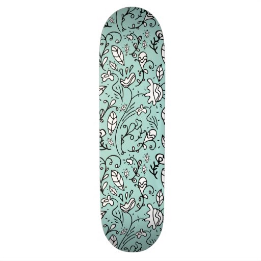 Blue Flower Lace Skateboard