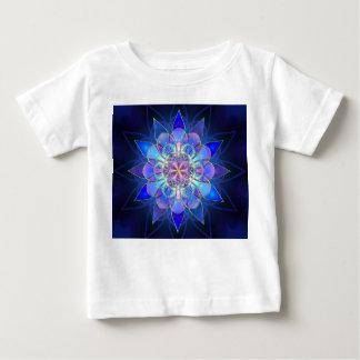 Blue Flower Mandala Fractal Baby T-Shirt