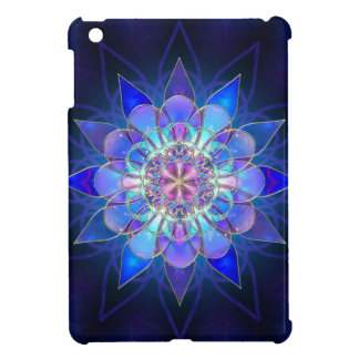Blue Flower Mandala Fractal Case For The iPad Mini