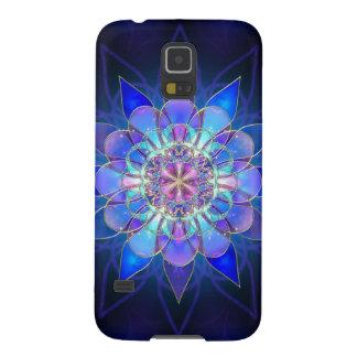 Blue Flower Mandala Fractal Galaxy S5 Cover