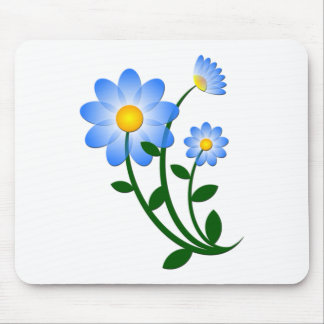 Blue Flower Mouse Mat