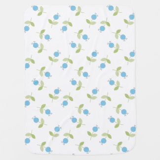 Blue Flower Pattern Baby Blanket