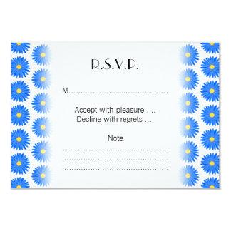 Blue Flower Pattern. 9 Cm X 13 Cm Invitation Card