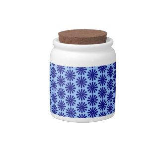 Blue Flower Pattern Candy Jars