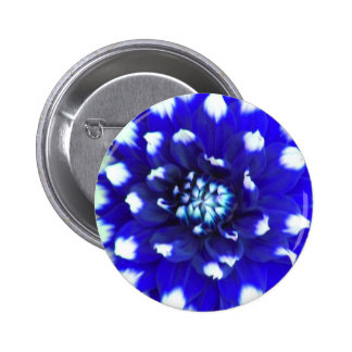 Blue Flower Petal 6 Cm Round Badge