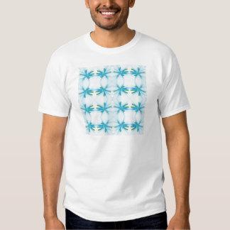 Blue Flower Power Pattern T-shirts
