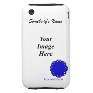 Blue Flower Ribbon by Kenneth Yoncich Tough iPhone 3 Case