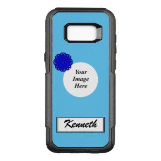 Blue Flower Ribbon Template by Kenneth Yoncich OtterBox Commuter Samsung Galaxy S8+ Case