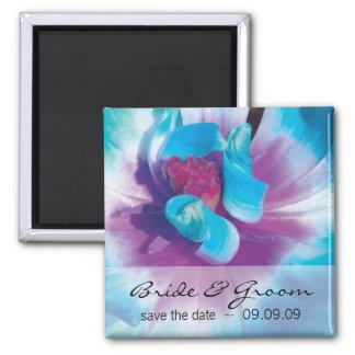 Blue Flower Save the Date Fridge Magnet