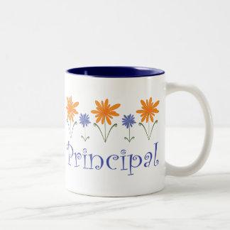 Blue Flower School Principal Gift Mugs