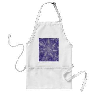 Blue flower spiral 3D fractal. Standard Apron