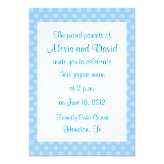 Blue Flower Wedding Invitations
