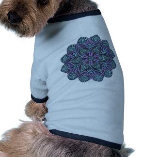 Blue flower woven pattern doggie t shirt