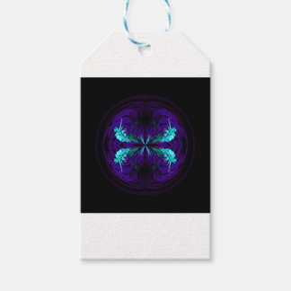 Blue flowered globe abstract gift tags