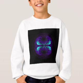 Blue flowered globe abstract sweatshirt