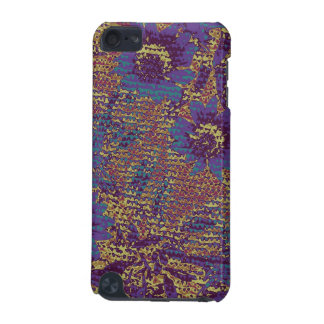 Blue flowers against leaf camouflage pattern iPod touch 5G cases