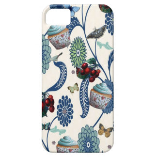 Blue Flowers and Cupcakes iPhone 5 Cover