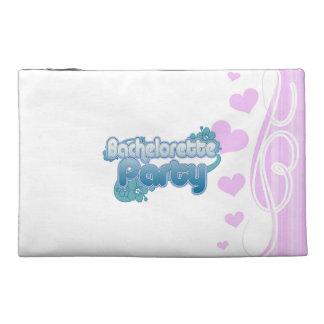 blue flowers bachelorette party ocean bridesmaids travel accessory bags