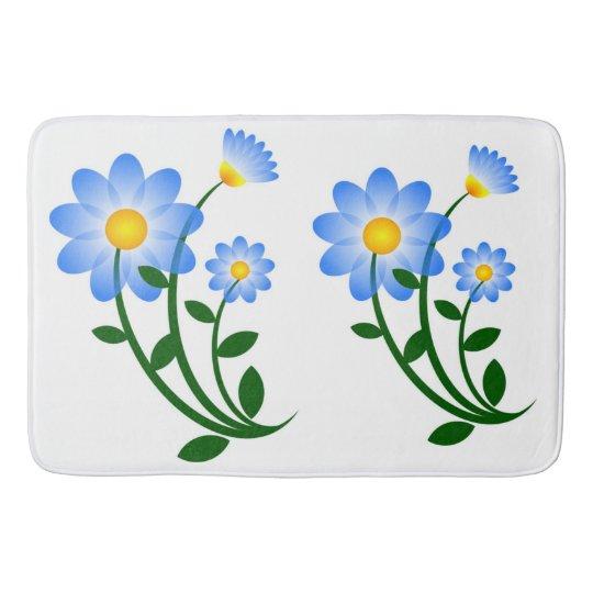 BLUE FLOWERS BATH MATS