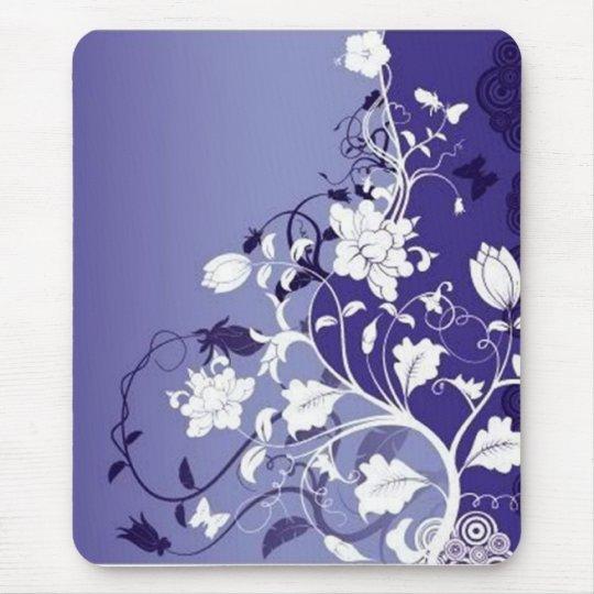 blue-flowers, blue-flowers mouse mat