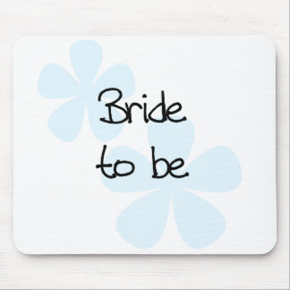 Blue Flowers Bride to Be Mouse Pad