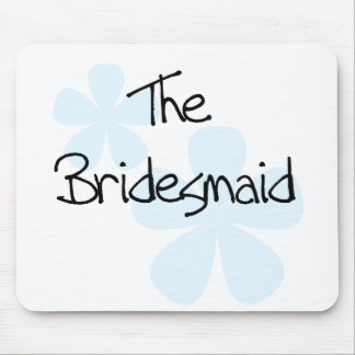 Blue Flowers Bridesmaid Mouse Pad