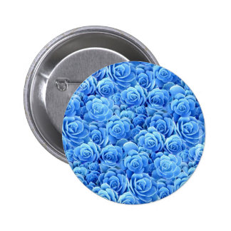 Blue Flowers Button