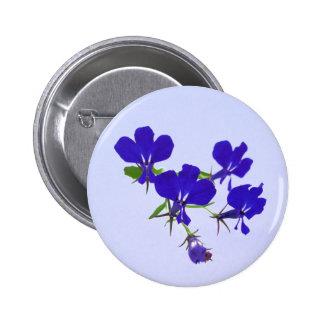 Blue flowers button