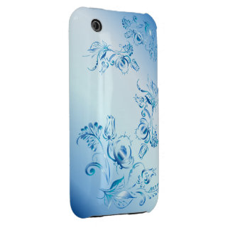 Blue Flowers iPhone 3 Cases