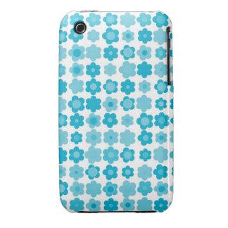 blue flowers Case-Mate iPhone 3 case