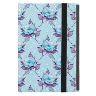 Blue flowers cover for iPad mini