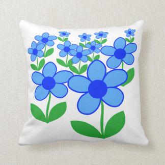Blue flowers cushion