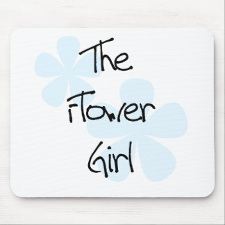 Blue Flowers Flower Girl Mouse Pad