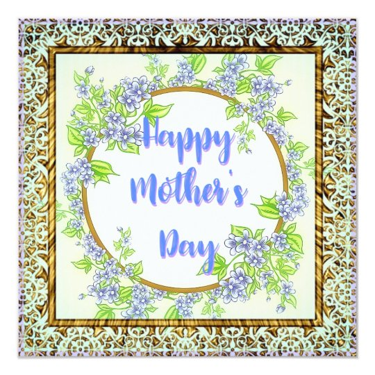 Blue Flowers for Mother's Day Card
