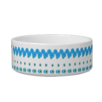 Blue flowers for pet bowl