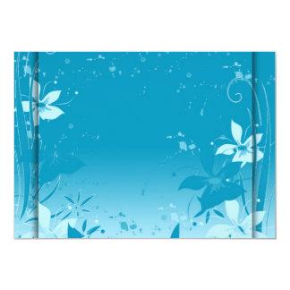 Blue flowers invitation