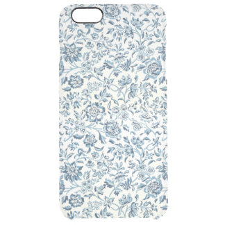 Blue Flowers iPhone 6/6S Plus Clear Case iPhone 6 Plus Case