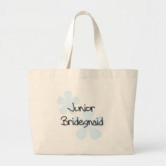 Blue Flowers Jr Bridesmaid Tote Bag