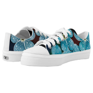 Blue Flowers Low Tops