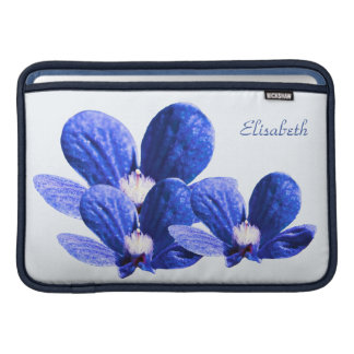 Blue Flowers MacBook Sleeve