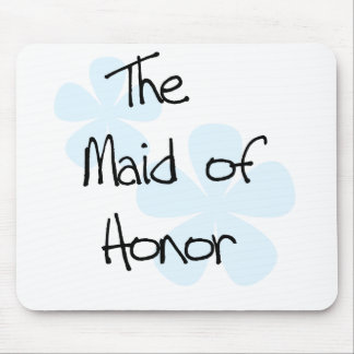 Blue Flowers Maid of Honor Mouse Pad
