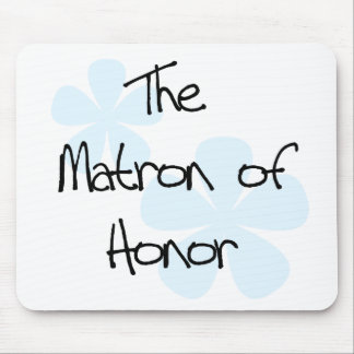 Blue Flowers Matron of Honor Mouse Pad