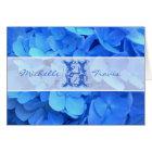 Blue Flowers Monogram & Message Note Card