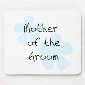Blue Flowers Mother of Groom Mouse Pad