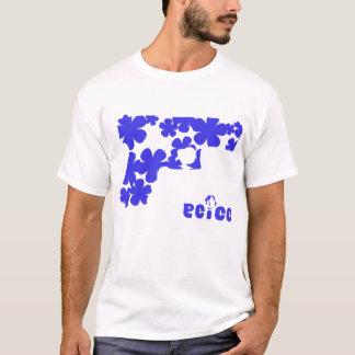 BLUE FLOWERS ON WHITE T-Shirt