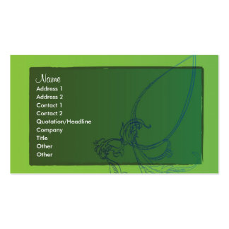 Blue Flowers Pack Of Standard Business Cards