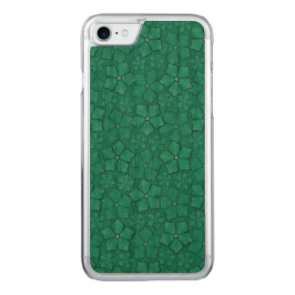 Blue Flowers pattern Carved iPhone 8/7 Case