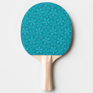 Blue Flowers pattern Ping Pong Paddle